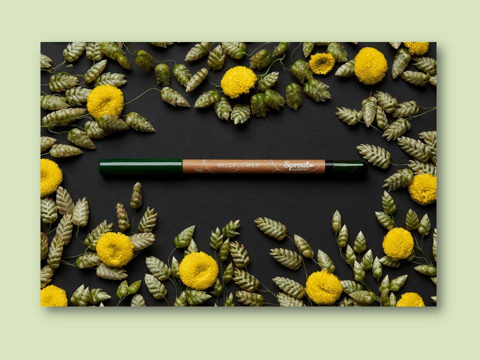 New ideas for Green Events - green gifts, green giveaways by Sprout World. The Danish company offers the world's first plantable eyeliner. (Photo credits: Sprout Europe ApS   https://sproutworld.com/)