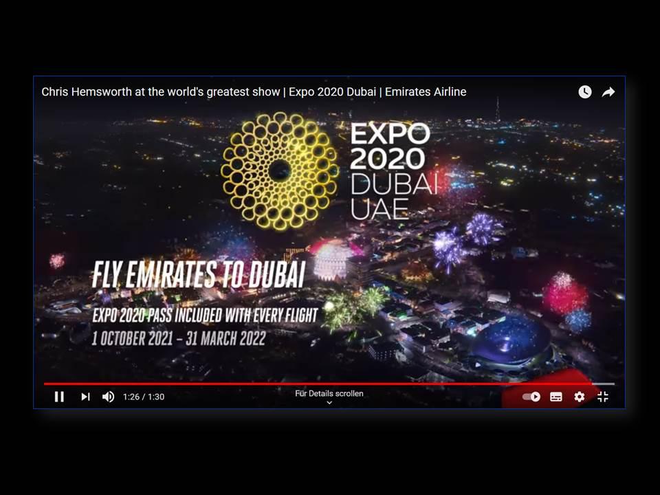 Image: screenshot from campaign video_Emirates-Dubai-Expo-2020