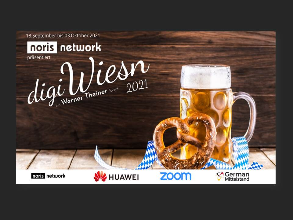 Image: digiWiesn 2021 are presented by its main sponsor noris network (Copyrights: noris network AG)